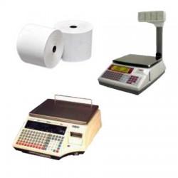 50 Rouleaux papier 60x60x12 - 41 m Balances Dibal - Avery Berkel 410 - TH9