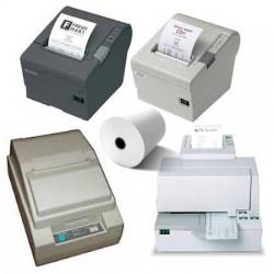 50 Rouleaux papier 80x80x12 - 75 m Imprimantes Epson TM-T80/T88/H5000 - TH13