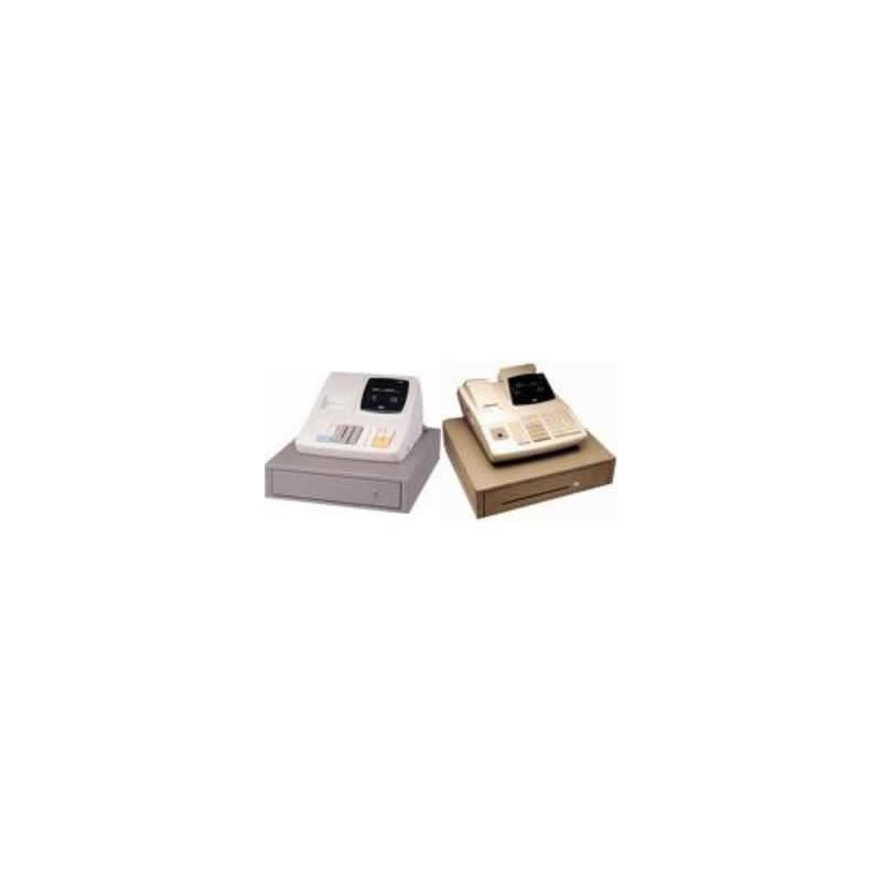 Tec MA-156/MA-186 - Doos 50 non-thermische papierrollen - wit/geel - DB4 - 57*70*12