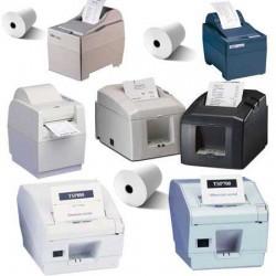 50 Rouleaux papier 80x80x12 - 75 m Imprimantes Star 200/400 Z/600/700/800 - TH13