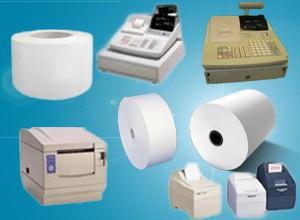 Rouleaux papier caisses enregistreuses et imprimantes